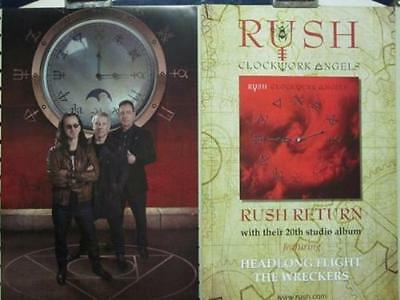 RUSH 2012 Clockwork Angels 2 Sided Promotional Poster New Old Stock Flawless