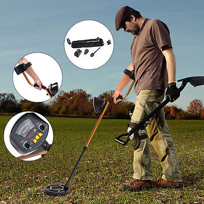 Waterproof Metal Detector W/ Shovel Headphones Coil Shovel Adjustable Automatic