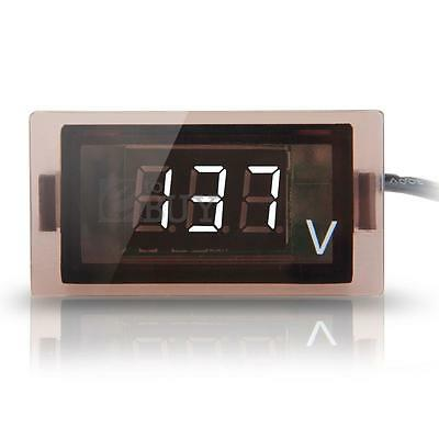12V-24V Car Truck Digital White LED Voltmeter Voltage Panel Gauge