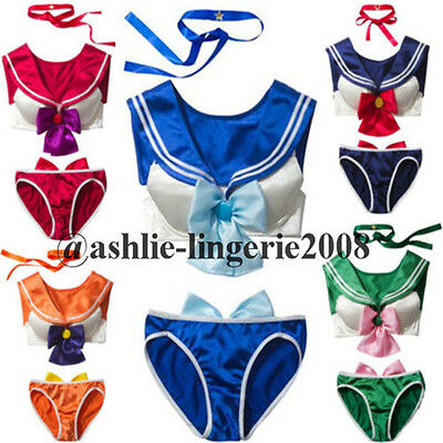 Sweety Girl's Anime Sailor Moon Underwear Bra Set Cosplay SEXY Lingerie Costume