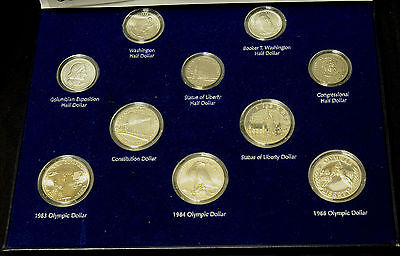 Classic & Modern Commemorative set BTW Columbian Constitution Olympic Silver.