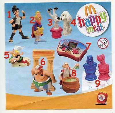 McDonald's MC DONALD'S HAPPY MEAL - 2008 Asterix Pezzi singoli
