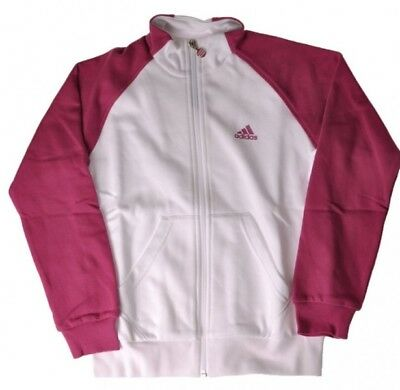 Original adidas Young Girls Trainings Track Top Mädchen Trainingsjacke weiss/glo