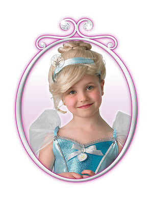 Child Girls Disney Royale Cinderella Wig Fancy Dress Princess Fairytale Book New