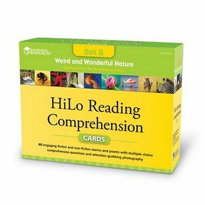 HiLo Reading Comprehension Cards Weird and Wonderful Nature Ages 7-11 Brand New