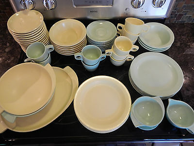 55 PIECE VINTAGE BOONTON MELMAC MADE USA TABLEWARE-PLATE CUP BOWL PLATTER MORE