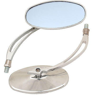 Ryde Chrome Round/oval Motorcycle Mirrors Universal 8Mm/10Mm Bike/motorbike Pair