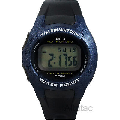 Casio W43H-1AV Men's 50M Digital Sports Watch w/ Black Resin Band & LED Light