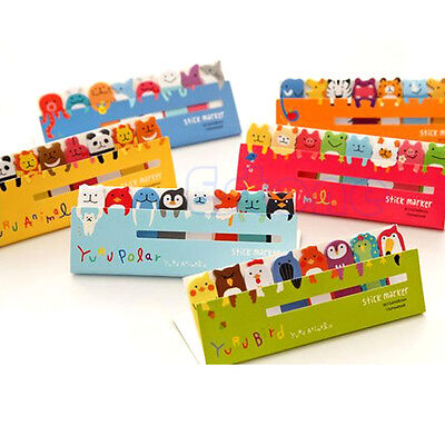 Cute Animals 120 Pages Sticker Bookmark Marker Memo Index Sticky Note