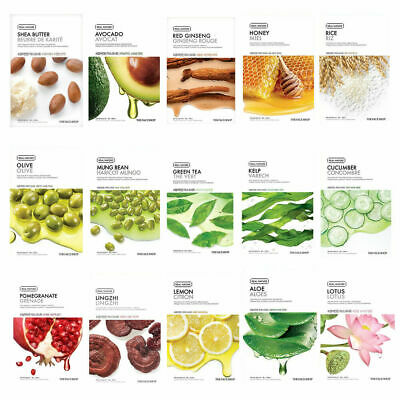 THE FACE SHOP Real Nature Mask Sheet 14ea + 1ea (Random) Set
