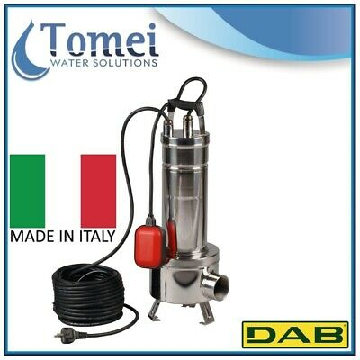 Submersible pump dirty water FEKA VS1200M-A Vortex 1,2Kw 1x230V 50Hz Float DAB
