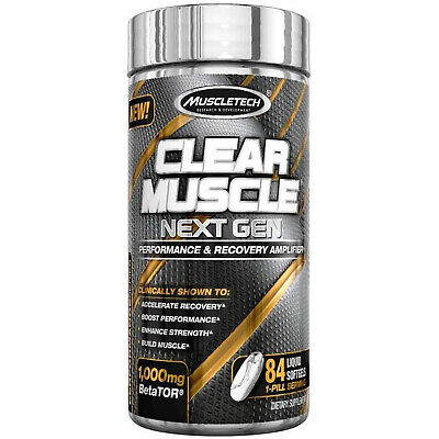 Muscletech Clear Muscle  - Lean Mass Bodybuilding Supplement (168 Capsules)
