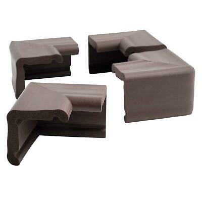 Prince Lionheart JUMBO Corner Guard Cushions Baby-proofing (Chocolate) Pack of 4