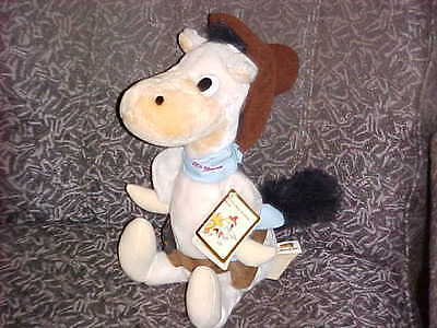 """16"""" Quick Draw McGraw Plush Toy With Pistol & Tags From Hanna Barbera 1990"""