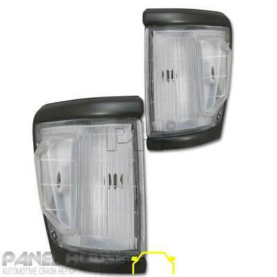 Corner Park Light Indicator PAIR Front Grey Trim Fits Toyota Hilux 4WD 92-96
