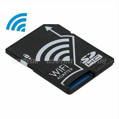 WiFi Wireless Micro SDHC TF Flash Card To SD Card Share Adapter For IOS Android