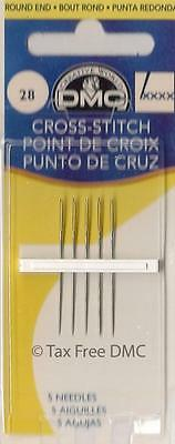 VAT Free DMC Packet of Cross Stitch Needles Coice of 4 Sizes 22 24 26 28 New