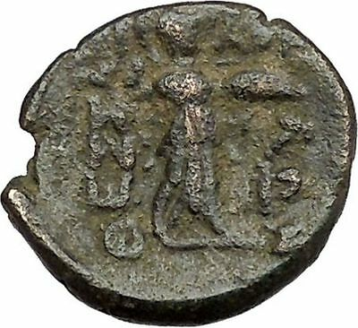 THESSALIAN LEAGUE Larissa 196BC Greek Coin ATHENA APOLLO Healer Cult   i41115
