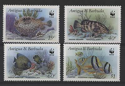 Antigua & Barbuda 1987 WWF Fish stamps MNH, unmounted
