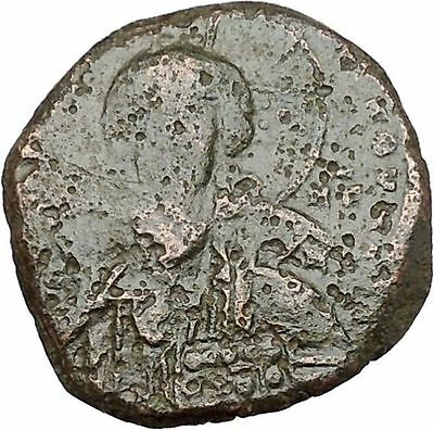 JESUS CHRIST Class A2 Anonymous Ancient 1028AD Byzantine Follis Coin  i41143