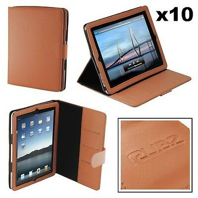 Rubz iPad2 Orange Leatherette Folio Cover Case Apple iPad 2 Tablet Pack of 10