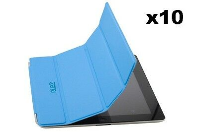 Rubz iPad2 Slim Blue Luxury Whiz Cover Case for Apple iPad 2 Tablet Pack of 10