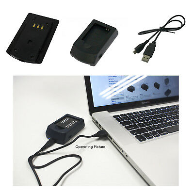 USB Battery Charger for SAMSUNG BP-70A SLB-70A ST66 ST67 TL205 SL605 PL91 ES95