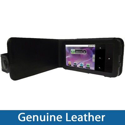Black Genuine Leather Case for Creative Zen Touch 2 MP3 Player Cover Holder