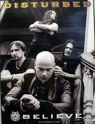 DISTURBED 2002 Believe promotional poster ~~NEW old stock MINT condition~~!!