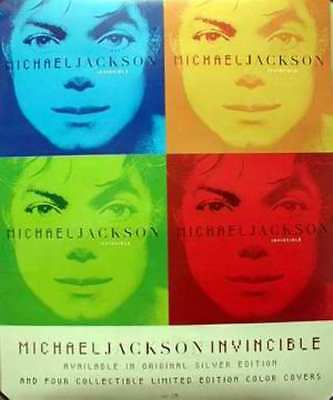 MICHAEL JACKSON 2001 2 sided invincible promotional poster ~MINT condition~!