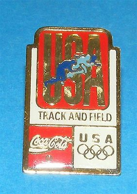 ATLANTA 1996 Olympic Collectible Sponsor Pin - Coca-Cola Track & Field