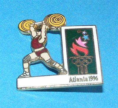 ATLANTA 1996 Olympic Collectible Sports Pin - Weightlifting The Snatch