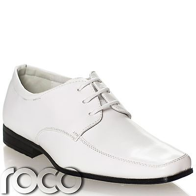Boys White Shoes, Prom Shoes, Page Boys Shoes, Formal Shoes, Wedding Shoes