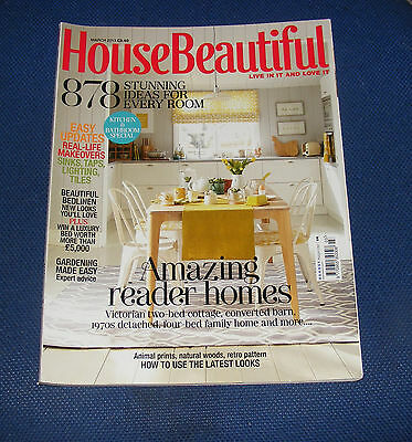 House Beautiful March 2013 - Kitchen And Bathroom Special/bedlinen/garden