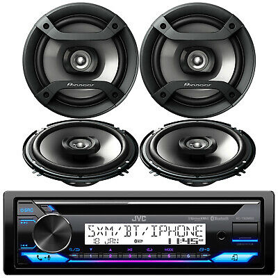 "KDR370 In Dash Car Audio Stereo CD MP3 AUX Player + 4 JVC 6.5"" 2-WAY Speakers"