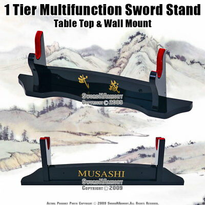 1 Tier Multifunction Sword Stand Table Top & Wall Mount