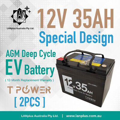 2X NEW 12V 35AH AGM SLA DEEP CYCLE Battery 4 Mobility SCOOTER GOLF CART BUGGY