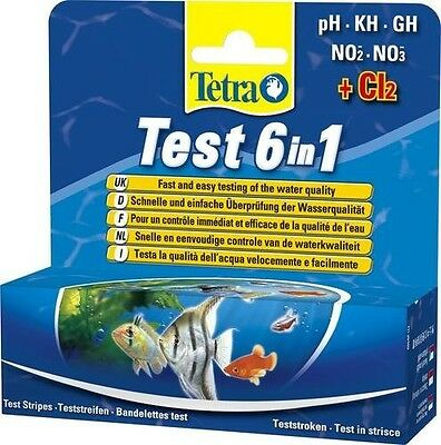 Tetra Test Strips 6 In 1 for Freshwater Aquariums - 25 pack