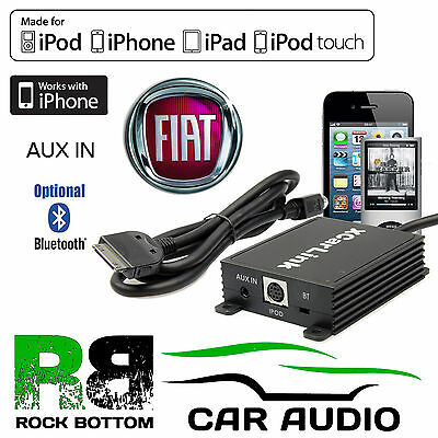 Fiat Idea 2004 - 2011 Car Radio AUX IN iPod iPhone Bluetooth Interface Cable