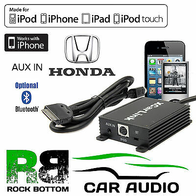 Honda FRV 2004 Onwards Car Radio AUX IN iPod iPhone Bluetooth Interface Cable