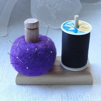 Hand-Felted Pincushion & Spool for Quilting, Sewing, and Stitching