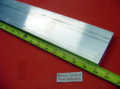 "1/4"" X 4"" ALUMINUM 6061 FLAT BAR 20"" long T6511 .250"" Plate Mill Stock"
