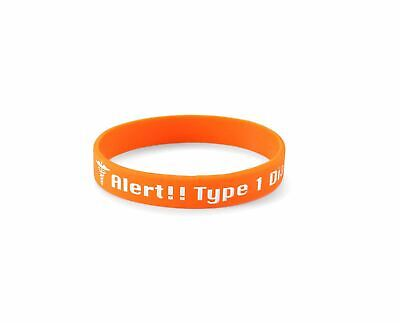 Medical Alert - Type 1 Diabetes Insulin Dependent - Diabetic Silicone Wristband