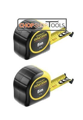 STANLEY FatMax Tape Measure Blade Armor 5m METRIC ONLY STA033720 Pack of 2