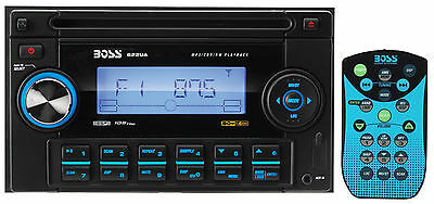 Boss Audio 822UA Double DIN Car CD/MP3/AM/FM Receiver Player W/Aux In USB & SD