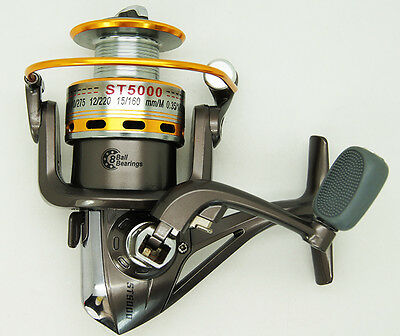 ST5000A Fishing reel moulinet de pêche 8Roulements 5.1:1 Aluminum Spool  Grey