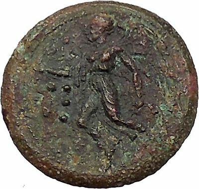 Himera in Sicily 420BC Ancient Greek Coin Naked youth on goat  Nike Cult  i41410