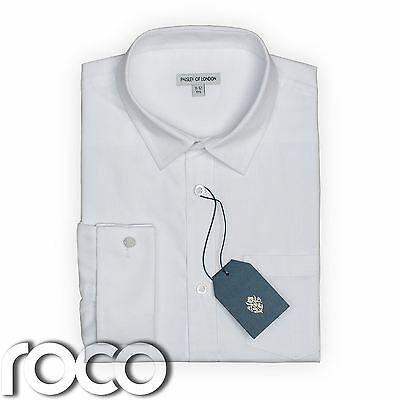 Boys White Cufflink Shirt, Boys Formal Shirts, Boys Wedding Shirts,  Kids Shirts