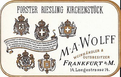 W016  FORSTER RIESLING KIRCHENSTUCK luggage label   nuova