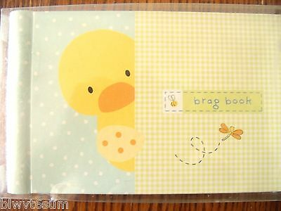 "CARTER'S YELLOW DUCK BRAG BOOK -HOLDS 24- 4"" X 6"" PHOTOS-GREAT GIFT"
